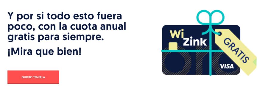 Comisiones de la tarjeta Wizink